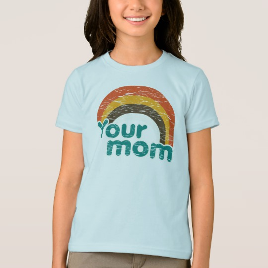 Your Mom Girls' American Apparel Fine Jersey T-Shirt