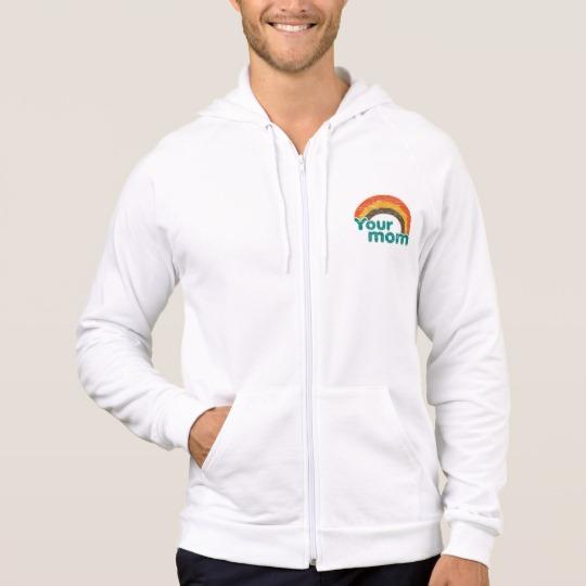 Your Mom Men's American Apparel California Fleece Zip  Hoodie