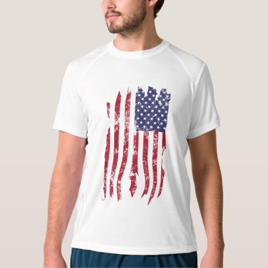 Vintage Distressed Tattered US Flag Men's New Balance T-Shirt