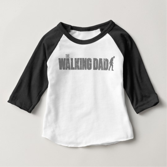 The Walking Dad Baby American Apparel 3/4 Sleeve Raglan T-Shirt