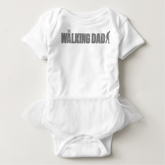The Walking Dad Baby Tutu Bodysuit
