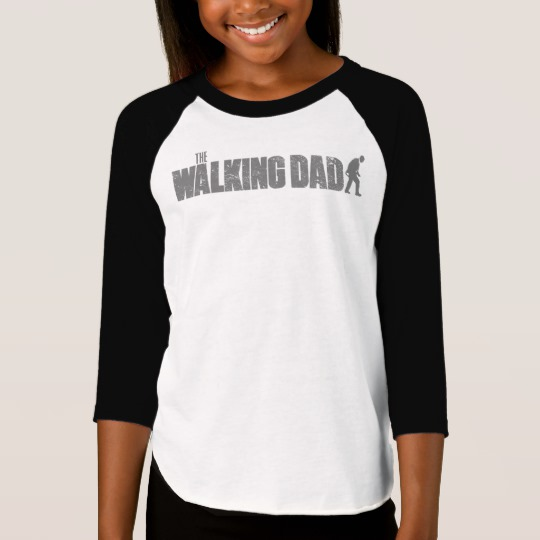 The Walking Dad Girls' American Apparel 3/4 Sleeve Raglan T-Shirt