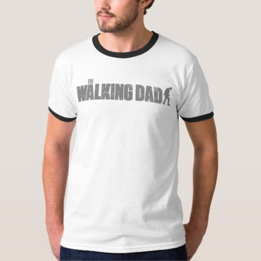 The Walking Dad Men's Basic Ringer T-Shirt