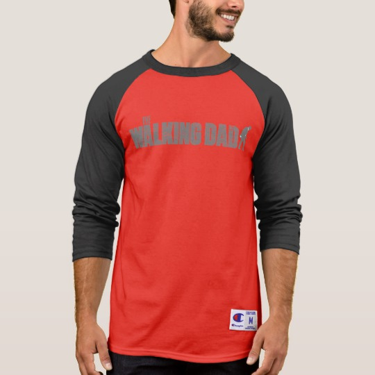 The Walking Dad Men's Champion 3/4 Sleeve Raglan T-Shirt