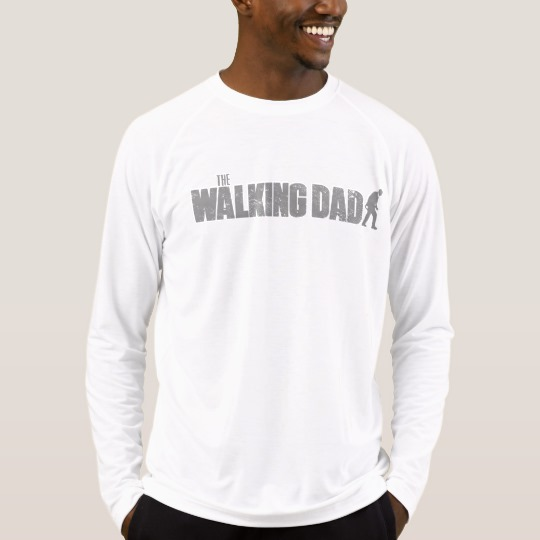 The Walking Dad Men's Sport-Tek Fitted Performance Long Sleeve T-Shirt