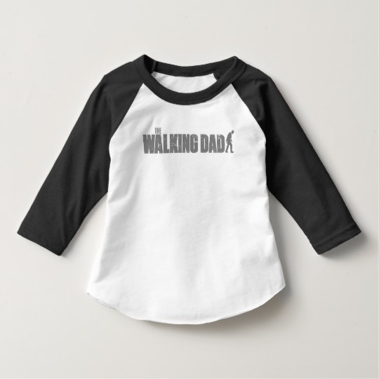 The Walking Dad Toddler American Apparel 3/4 Sleeve Raglan T-Shirt