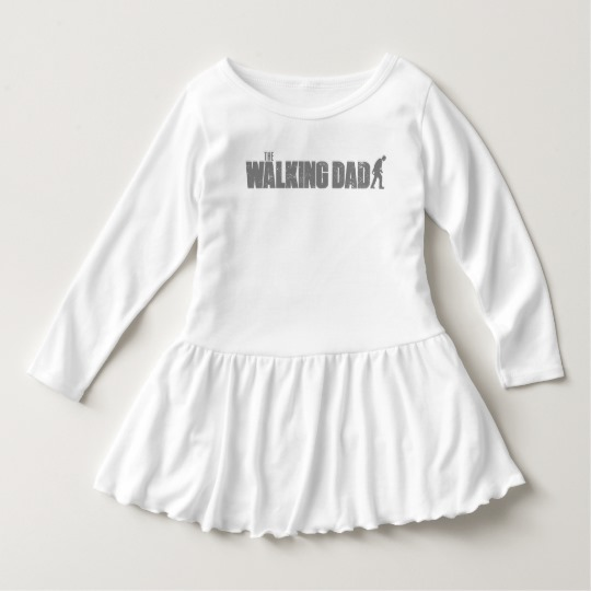 The Walking Dad Toddler Ruffle Dress