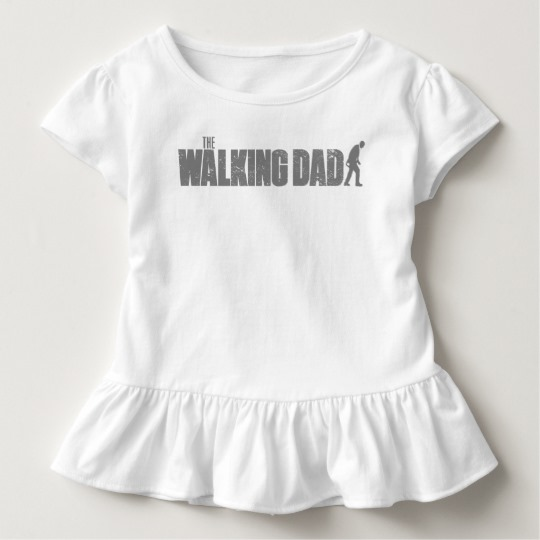 The Walking Dad Toddler Ruffle Tee