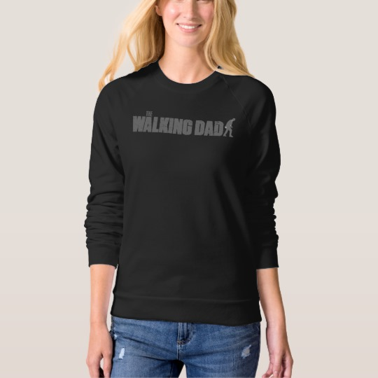 The Walking Dad Women's American Apparel Raglan Sweatshirt