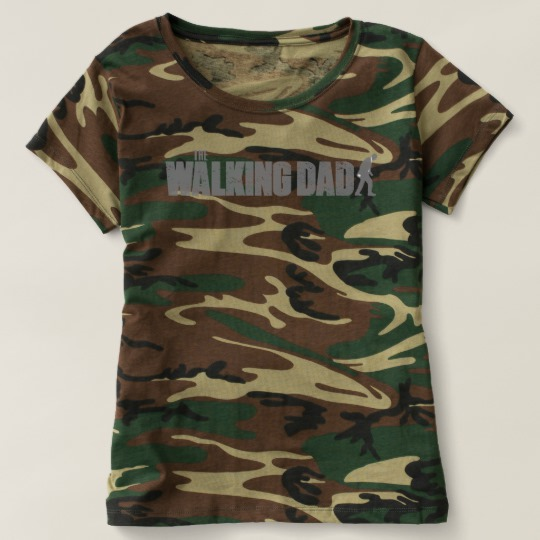 The Walking Dad Women's Camouflage T-Shirt