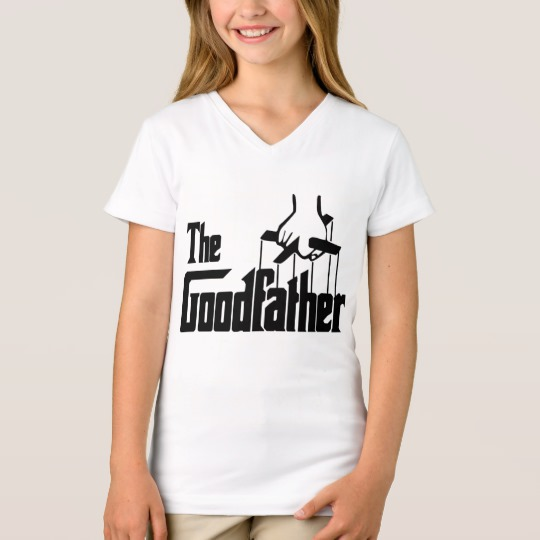 The Goodfather Girls' Fine Jersey V-Neck T-Shirt