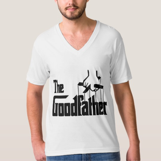 The Goodfather Men's American Apparel Fine Jersey V-neck T-Shirt