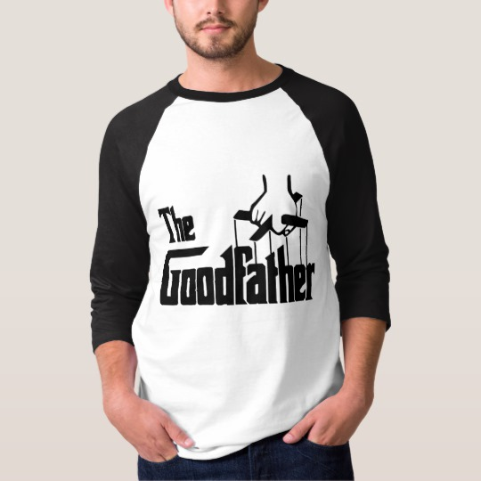 The Goodfather Men's Basic 3/4 Sleeve Raglan T-Shirt
