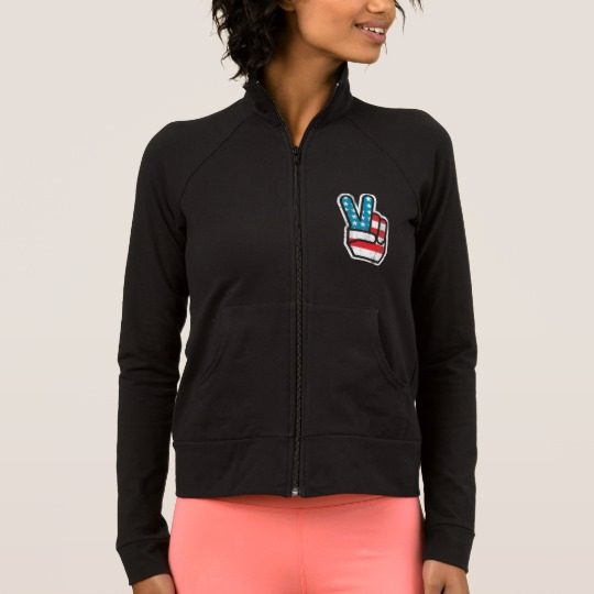 Peace Sign US Flag Women's Practice Jacket