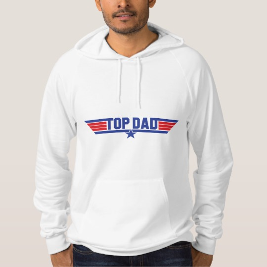 Top Dad American Apparel California Fleece Pullover Hoodie