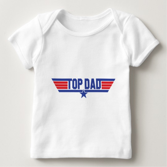 Top Dad Baby American Apparel Lap T-Shirt