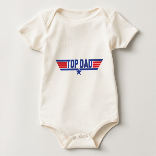 Top Dad Baby American Apparel Organic Bodysuit