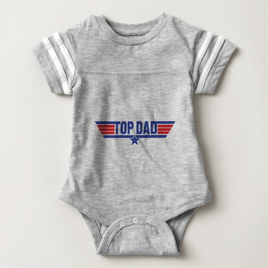 Top Dad Baby Football Bodysuit
