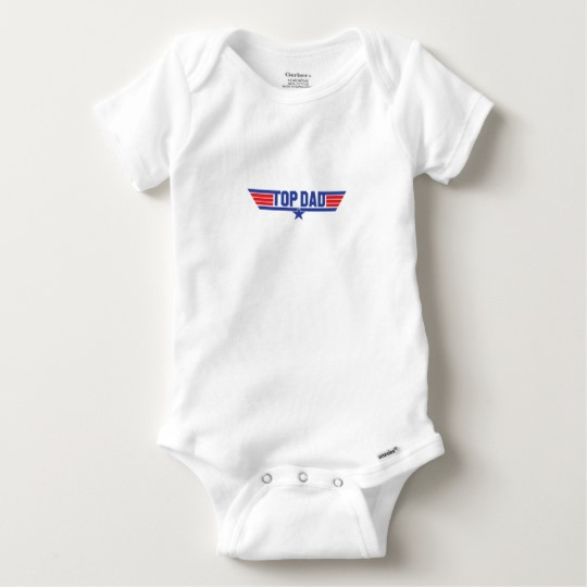 Top Dad Baby Gerber Cotton Onesie