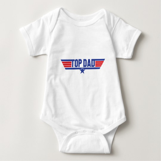 Top Dad Baby Jersey Bodysuit