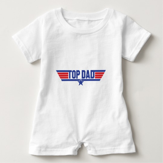 Top Dad Baby Romper