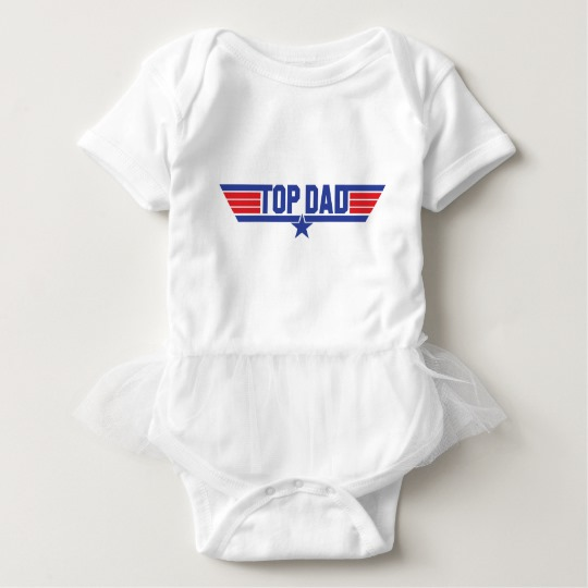 Top Dad Baby Tutu Bodysuit