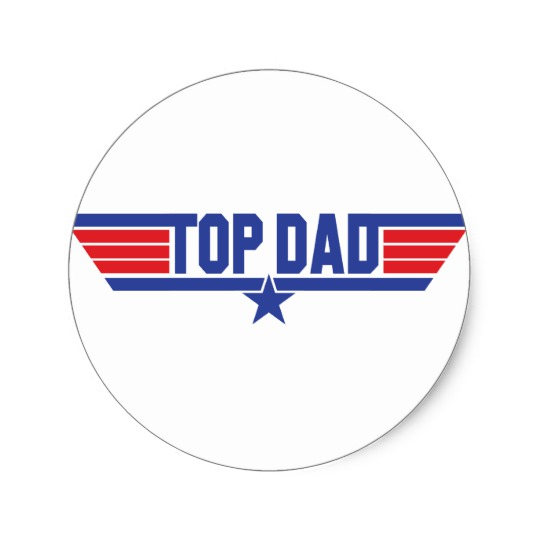 Top Dad Button