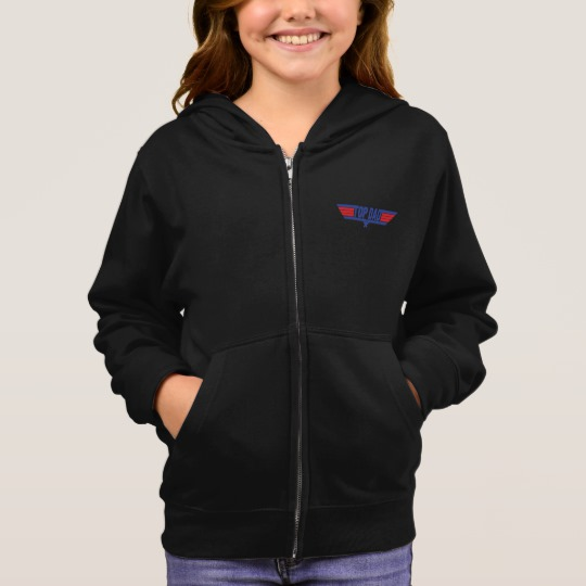 Top Dad Girl's Basic Zip Hoodie