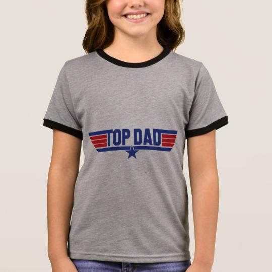 Top Dad Girl's Ringer T-Shirt