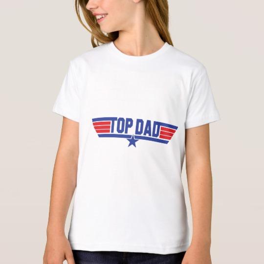 Top Dad Girls' American Apparel Organic T-Shirt