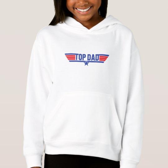 Top Dad Girls' Fleece Pullover Hoodie