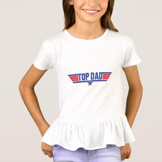 Top Dad Girls' Ruffle T-Shirt