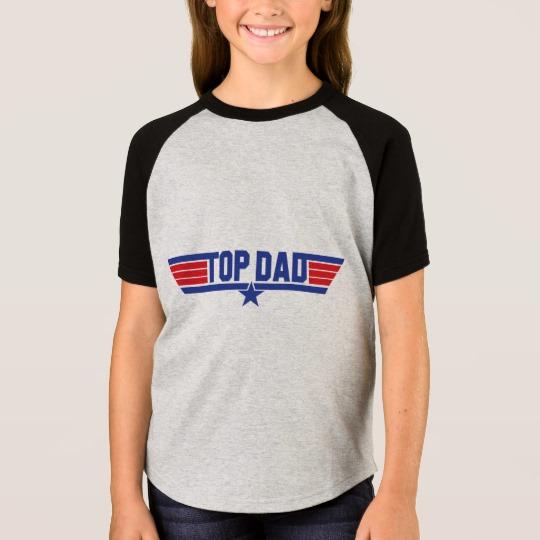 Top Dad Girls' Short Sleeve Raglan T-Shirt