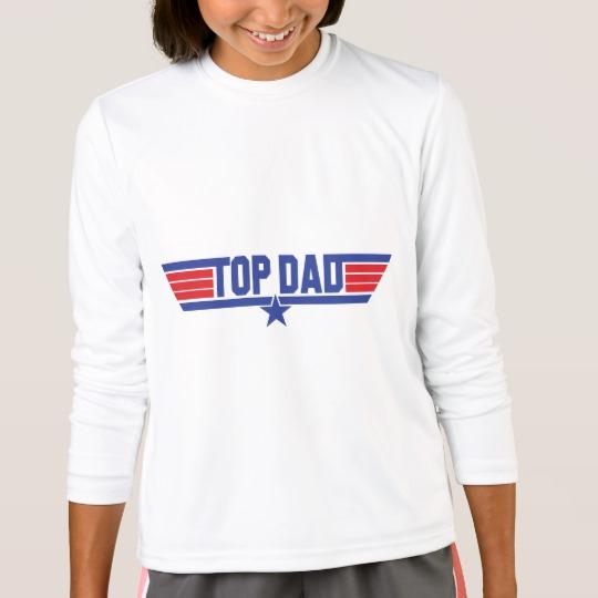Top Dad Girls' Sport-Tek Competitor Long Sleeve T-Shirt