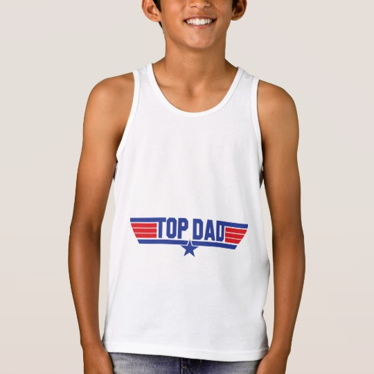 Top Dad Kids' Bella+Canvas Jersey Tank Top