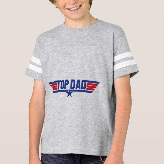 Top Dad Kids' Football Shirt