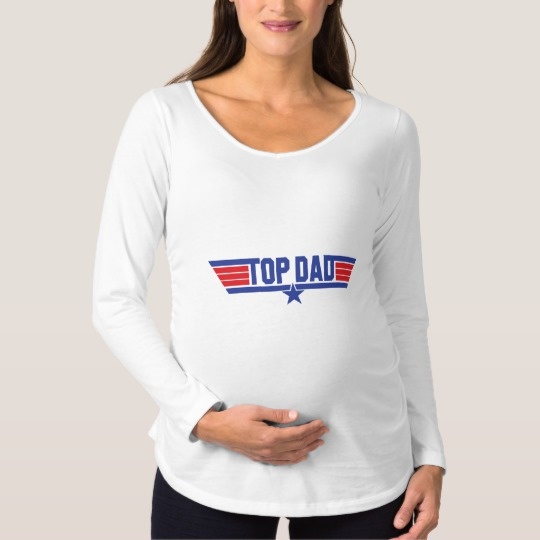 Top Dad Maternity Long Sleeve T-Shirt
