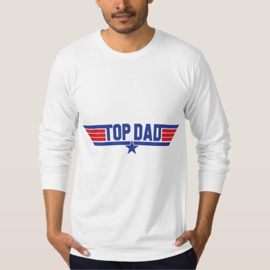 Top Dad Men's American Apparel Fine Jersey Long Sleeve T-Shirt