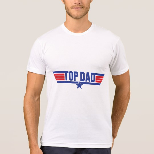 Top Dad Men's American Apparel Poly-Cotton Blend T-Shirt