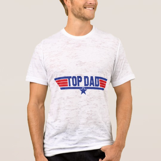 Top Dad Men's Canvas Fitted Burnout T-Shirt