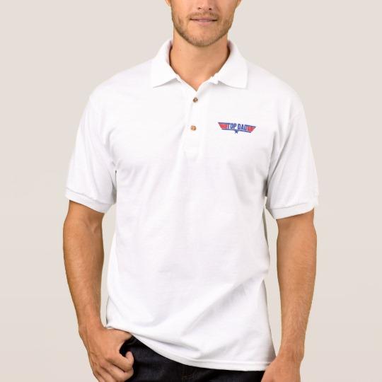 Top Dad Men's Gildan Jersey Polo Shirt