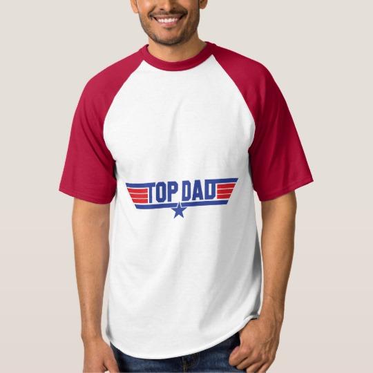 Top Dad Men's Raglan Baseball T-Shirt