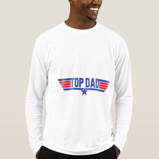Top Dad Men's Sport-Tek Fitted Performance Long Sleeve T-Shirt