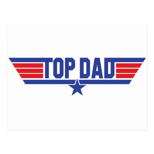 Top Dad Postcard
