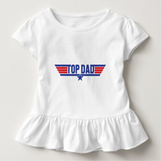 Top Dad Toddler Ruffle Tee