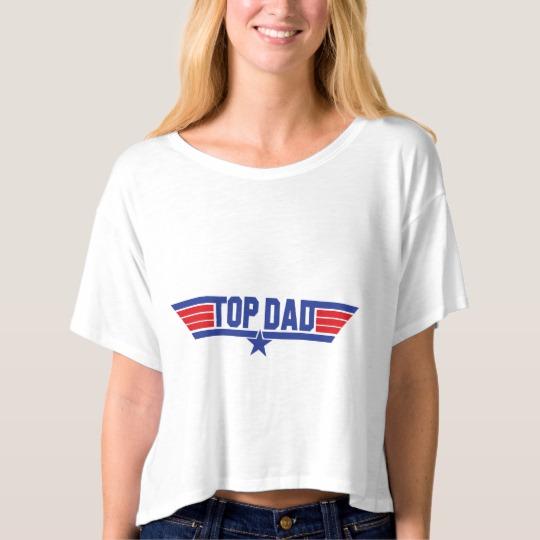 Top Dad Women's Bella+Canvas Boxy Crop Top T-Shirt