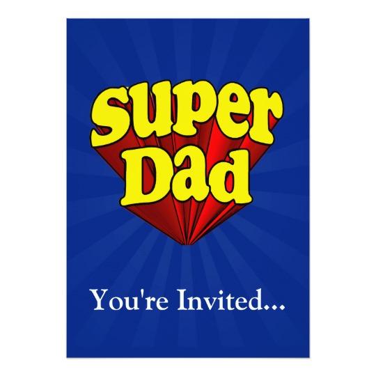 """Super Dad 5"""" x 7"""" Invitation / Flat Card"""