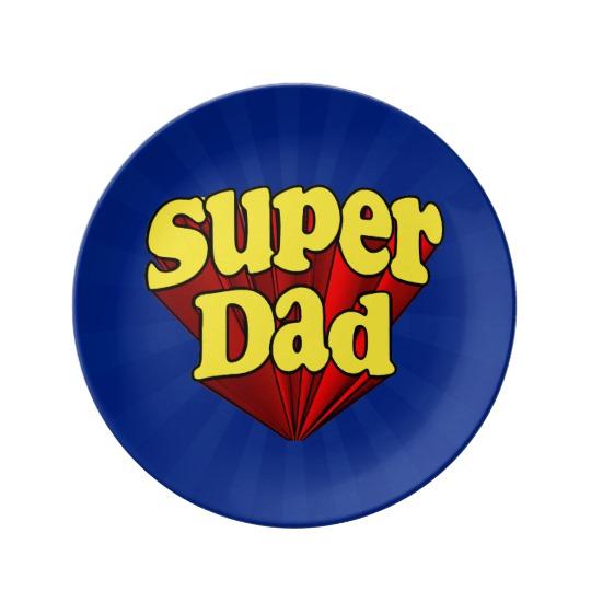 """Super Dad 8.5"""" Decorative Porcelain Plate"""