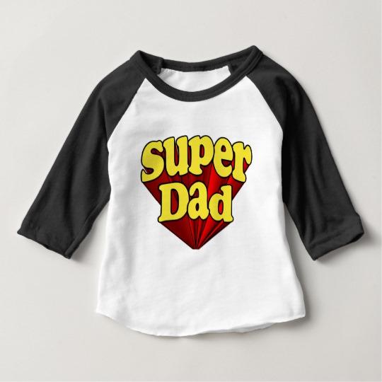 Super Dad Baby American Apparel 3/4 Sleeve Raglan T-Shirt