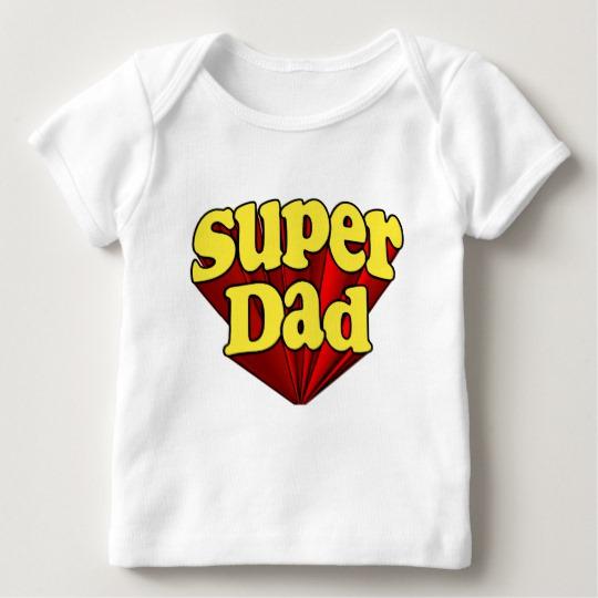 Super Dad Baby American Apparel Lap T-Shirt